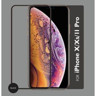 GEAR Härdat Glas 3D Gum Full Cover Svart iPhoneX/Xs/11 Pro inkl. Monteringsram