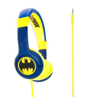 BATMAN Hörlur Junior On-Ear 85dB Blå Batlogo