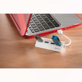 HAMA USB 2.0 Hub 1:4 White