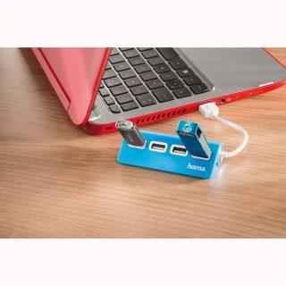 HAMA USB 2.0 Hub 1:4 Blue