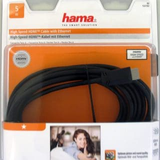 HAMA Kabel HDMI High Speed Svart 5.0m