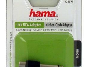 HAMA Adapter Audio RCA-6.3mm Hona-Hane Svart