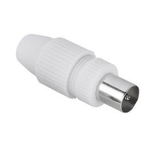 HAMA Adapter Antenn Avskärmad Koax Hane Vit
