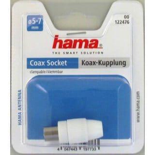 HAMA Adapter Antenn Avskärmad Koax Hona Vit