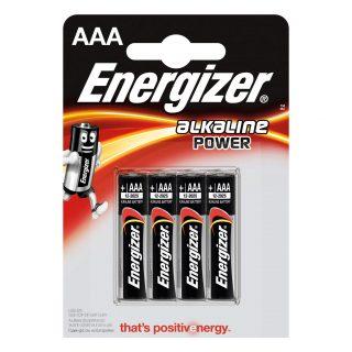 ENERGIZER Batteri AAA/LR03 Alkaline Power 4-pack