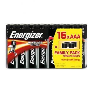 ENERGIZER Batteri AAA/LR03 Alkaline Power 16-pack Blister
