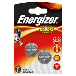 ENERGIZER Batteri CR2430 Lithium 2-pack