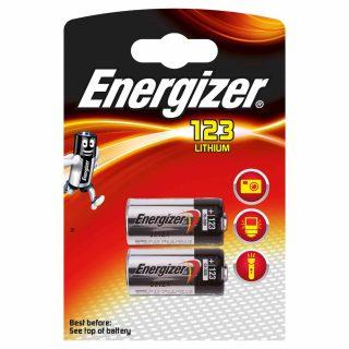 ENERGIZER Batteri CR123 Lithium 2-pack