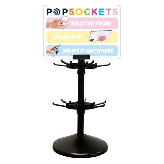 POPSOCKETS Bordsdisplay 12 krok inkl topskylt och 6st svarta PopSockets
