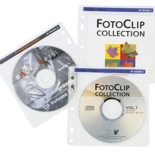 HAMA CD-ROM Sleeve Med Pärmhål 80st