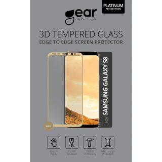 GEAR Härdat Glas 3D Full Cover Guld Samsung S8