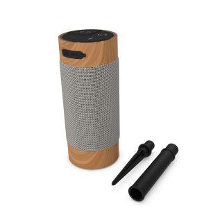 KITSOUND Högtalare Diggit XL Trådlös högtalare för Trädgården 2x8W Wood