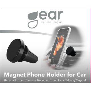GEAR Magnetisk Mobilhållare Svart Vridbar Puck Fläktgaller