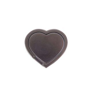 GEAR MobilRing Hjärta Silver Matt Roterande Fingerhållare med Ställfunktion