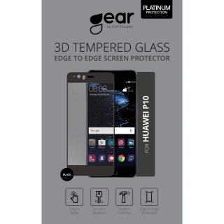GEAR Härdat Glas 3D Full Cover Svart Huawei P10