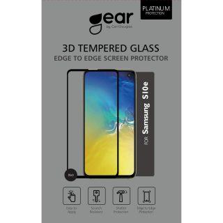 GEAR Härdat Glas 3D Gum Full Cover Svart Samsung S10e Incl. Monteringsram