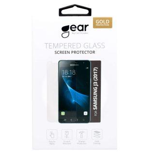 GEAR Härdat Glas 3D Full Cover Svart Samsung J3 (2017)