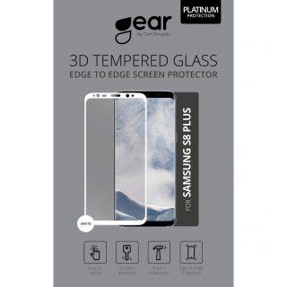 GEAR Härdat Glas 3D Full Cover Vit Samsung S8 Plus