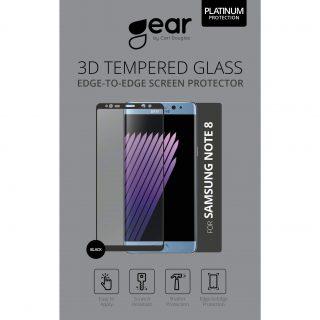 GEAR Härdat Glas 3D Full Cover Svart Samsung Note 8
