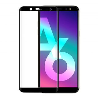 GEAR Härdat Glas 3D Full Cover Svart Samsung A6