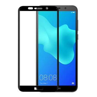 GEAR Härdat Glas 3D Full Cover Svart Huawei Y5 2018