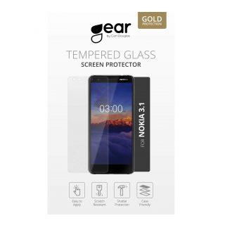 GEAR Härdat Glas 3D 2in1 Front & Back iPhoneX Edge to Edge Svart med Klar baksida