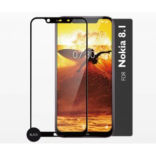 GEAR Glass Prot. 2,5D Full Cover Nokia 8.1