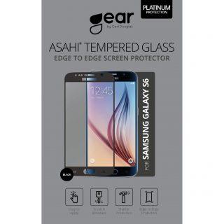 GEAR Härdat Glas 3D Full Cover Svart Samsung S6