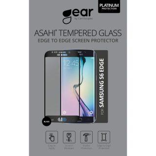 GEAR Härdat Glas 3D Full Cover Svart Samsung S6 Edge