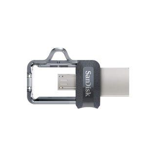 SANDISK USB-minne m3.0 Ultra Dual Drive 32GB Grå & Silver
