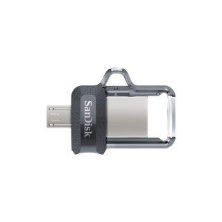 SANDISK USB-minne m3.0 Ultra Dual Drive 64GB Grå & Silver