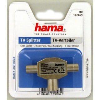 HAMA Adapter Antenn T-Kontakt TV 1xHona-2xHane