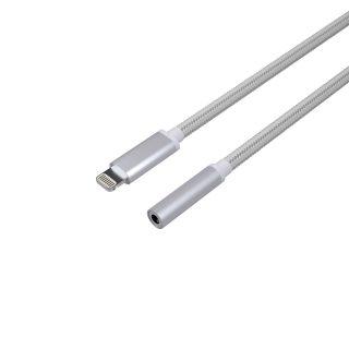 KIT Lightning Musikadapter (Lightning till 3,5mm) Silver
