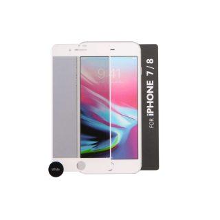 GEAR Härdat Glas 3D Gum Full Cover Vit iPhone7/8